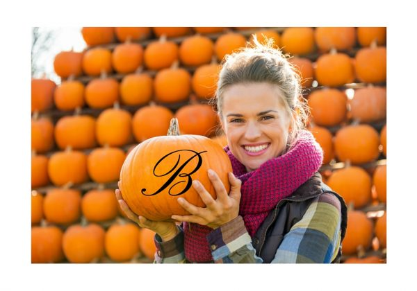 Monogram Fall Decal for Pumpkin