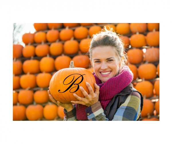 Monogram Fall Decal for Pumpkin