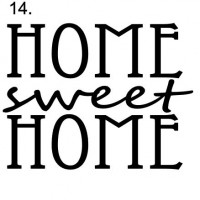 Sign 14. Home sweet home (1)