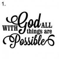 sign 1. with God all things are possible