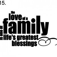 sign 15. Love of a family