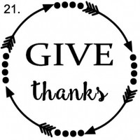 sign 21. Give thanks arrow circle