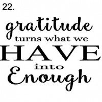 sign 22. Gratitude