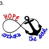 sign 3. Hope anchors