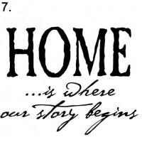sign 7. home where story begins