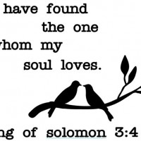 34. Found who my soul loves