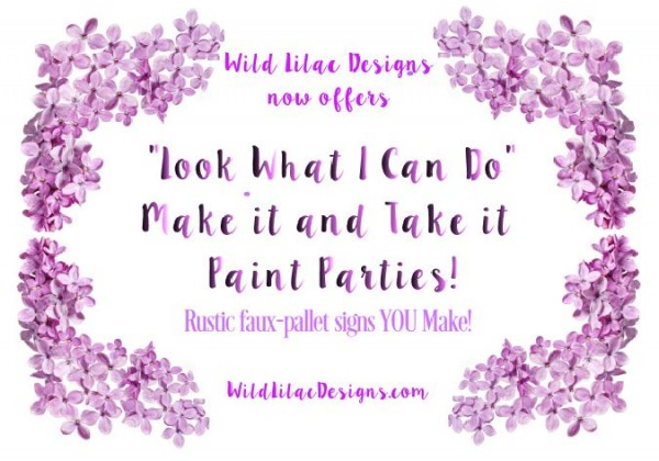 Wild Lilac Designs paint party postcard