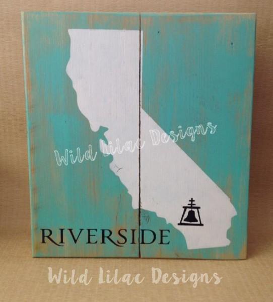 California With Riverside Rain Cross Sign The Vinyl Cut