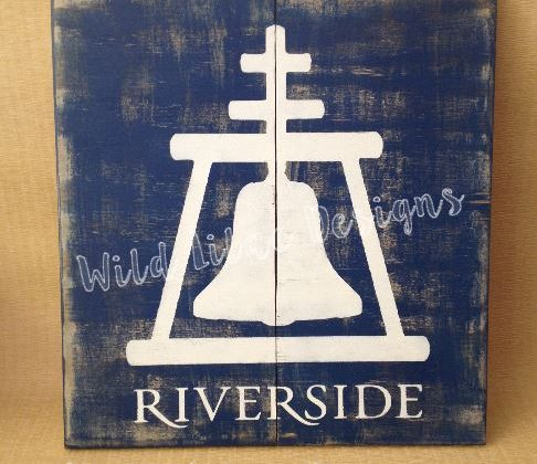 Riverside raincross sign