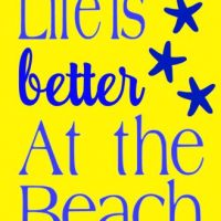 Life better at beach