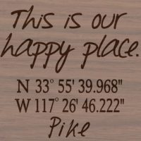 This is our happy place with GPS coordinates