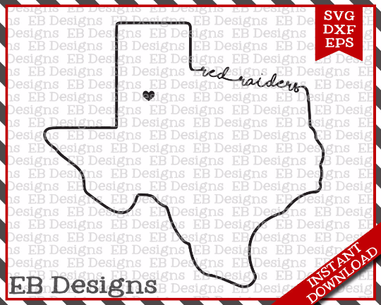 Texas Tech Red Raiders Svg Eps And Dxf The Vinyl Cut