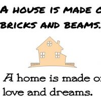 house is made with bricks