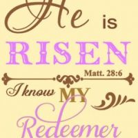 He is risen, my redeemer lives