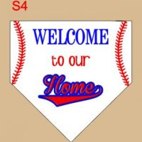 welcome to our home (plate)