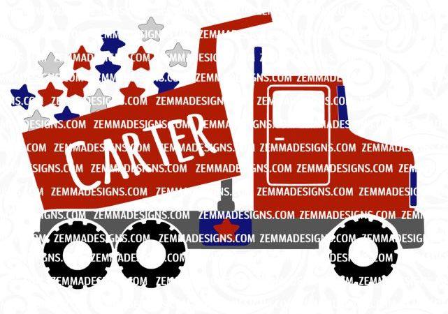 0454 dump truck 4th of july stars
