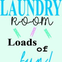 Laundry room loads of fun